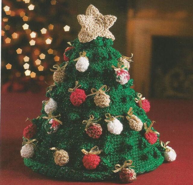 Crochet Pattern ~ CHRISTMAS TREE TABLE TOPPER ~ Instructions