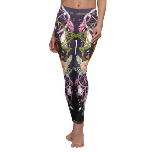 Native American Warrior Woman Tribal Legging for Women Soft Legging Yoga Pants