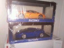 1:18 autoart Gallardo Lamborghini lot of 2 Blue and Orange Great Price!!