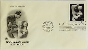 100-USPS-PCS-Isamu-Noguchi-2004-37c-Stamp-FDC-3860-First-Day-Issue-NEW