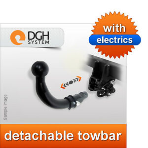 VOLVO C30 2006-2012 Detachable Horizontal Towbar with Electric Kit 13Pin