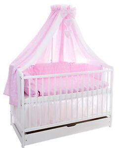 babybett schublade 120x60 weiss matratze bettset 100x135. Black Bedroom Furniture Sets. Home Design Ideas