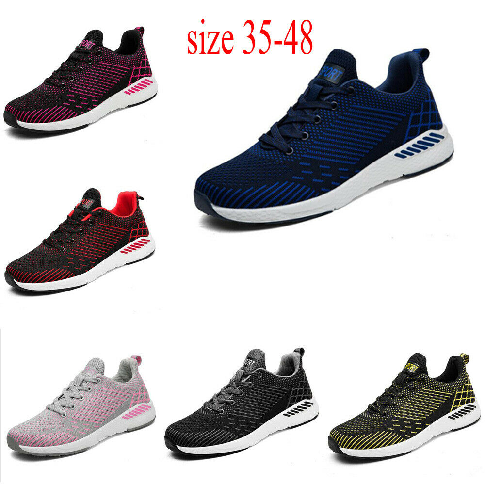 Fashion Men Athletic Outdoor Stripe Cloth Running Sports Sneakers shoes Sz 35-48