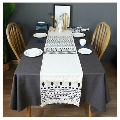 Nordic Style Geometric Printed Table Runner For Dining Coffee Decoration Ebay