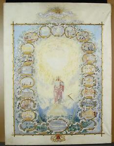 Emma-Roberts-Watercolour-c1850-Coat-of-Arms-Chevron-Crown-cross-D-Malta-IN