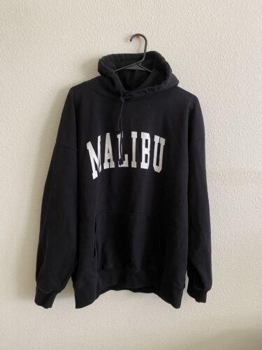 brandy melville black oversize Christy Malibu hoodie sweatshirt NWT sz M//L