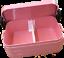 Cartables ROSTI MEPAL rose avec nom le bac à légumes Gourde Gamelle faon