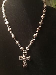 Authentic Chrome Hearts Sterling Silver Celtic Cross