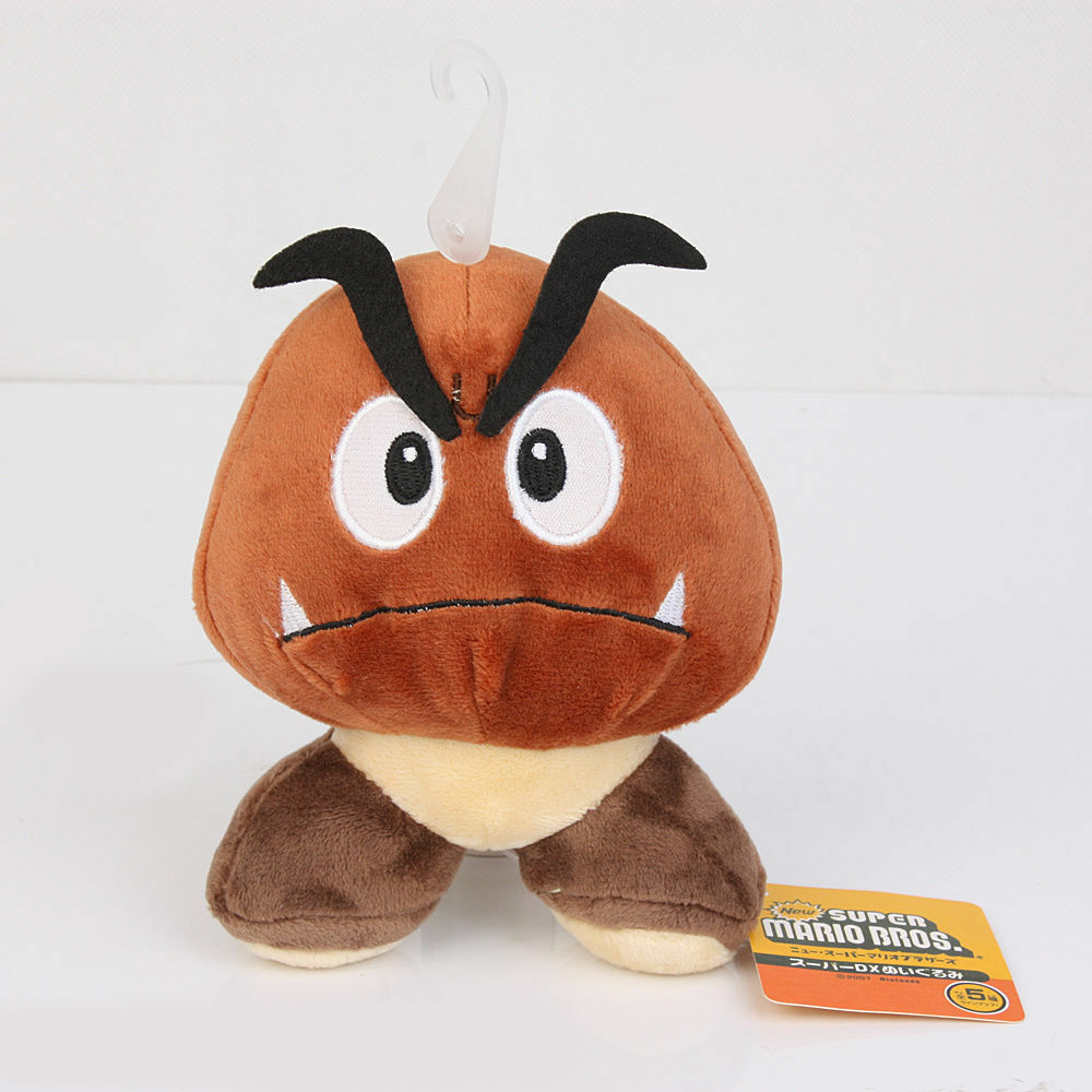 4pcs Super Mario Bros Goomba & Boo Ghost Ghost Ghost & King Bowser Jr Plush Doll Stuffed Toy 428f8d