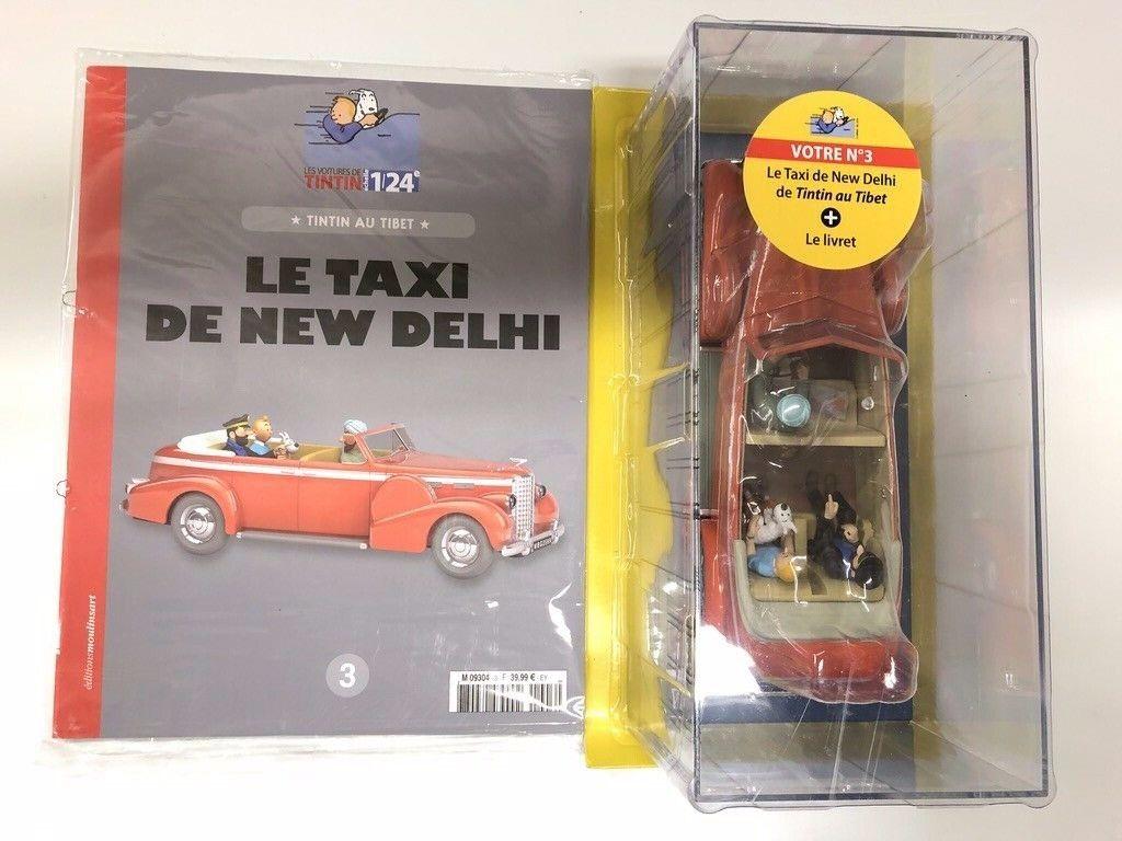 En voiture Tintin le le le taxi de new delhi 1 24 NEUF JAMAIS OUverde  moulinsart 747318