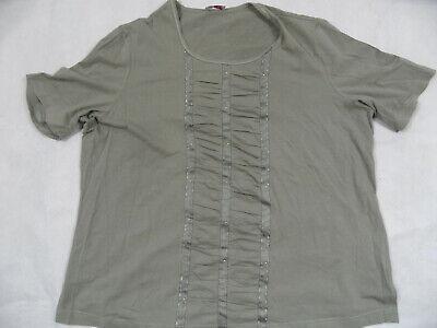 Koucla Shirt Wickeloptik mit seitlicher Raffung