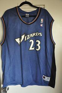pretty nice d8df3 cbf6d Details about Michael Jordan Jersey Washington Wizards Vintage Champion  Blue Size 48 XL