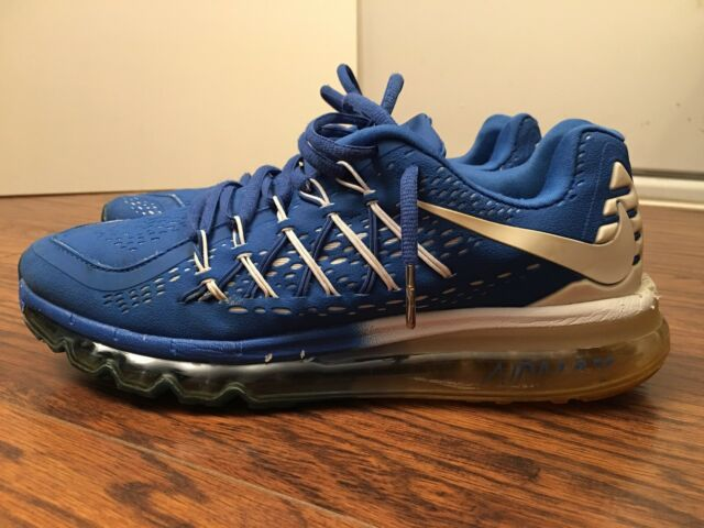 Nike Air Max 2015 Patriot, 698903 043, BlueWhite, Men's Running Shoes, Size 9.5