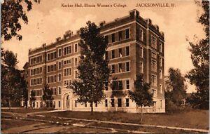 Karber Hall Illinois Women's College Jacksonville Illinois Postcard