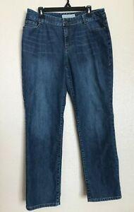 Chico-s-Womens-Platinum-Denim-Jeans-Straight-Leg-Size-2-5-Regular