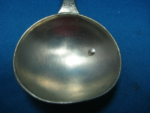 Beautiful SKS Design Antique  German Embossed Pewter  Wedding Spoon Collectible
