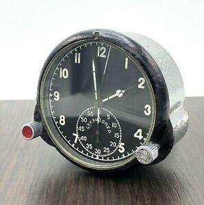 Vintage Soviet Cockpit Chronograph Clock 59 ChP USSR Helicopter Aircraft Pilot