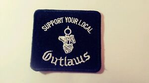 Details about Outlaws Motorcycle Club Support Patch  Outlaws1%er Square  with Hand & Gun