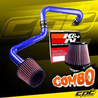 01-05 Honda Civic Automatic 1.7l Blue Cold Air Intake + K&n Air Filter