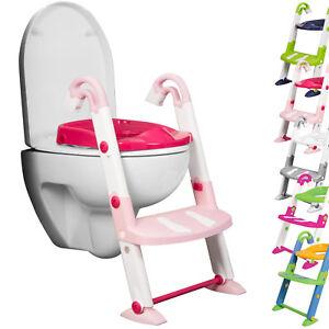 Erwei Toilettentrainer 3 in 1 Kindertoilette Baby-Toilettenleiter Toiletten-Trainer mit Stufen T/öpfchen-Trainer Kinder WC Sitz Toilettensitz Kinder blau