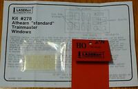 American Model Builders, Inc Ho 278 Pre-masked Laser-cut Acrylic Glazing Window