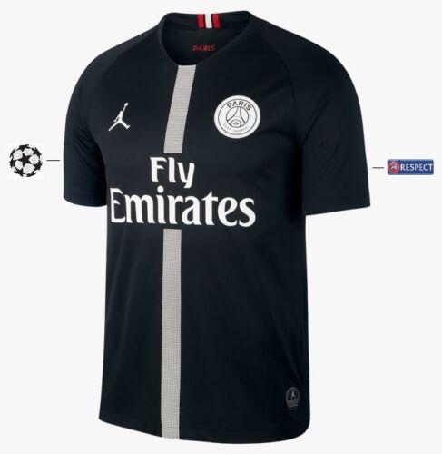 128-xxl PSG MAGLIA NIKE Paris Saint-Germain 2018-2019 Third BLACK UCL