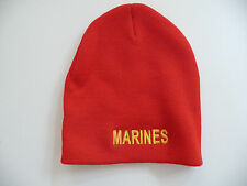 Buy Embroidered EGA USMC US Marines Beanie Winter Knit Cap Hat Red ... 0ee481c60cde