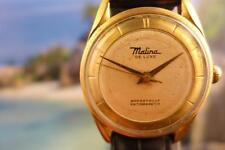 Unique, VintageClassy 36mm Malina De Luxe Gold Plate Case beige dial Manual Wind