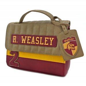 01abdcc201d Image is loading Loungefly-Harry-Potter-Ron-Weasley-Gryffindor-Crossbody-Bag -