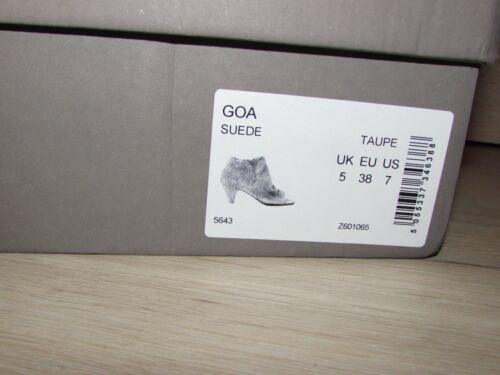 Hudson da Tacchi 5 Goa a New punta pelle donna scamosciata scoperta Taupe Brand With in Box Uk r8Rwrz