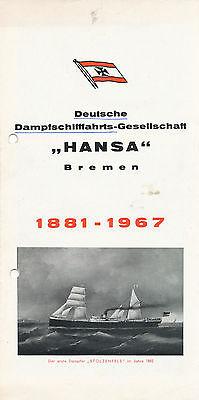 Sport Deutsche Dampfschiffahrts Gesellschaft Hansa Bremen 1881 Folder 1967 Prospekt SchnäPpchenverkauf Zum Jahresende