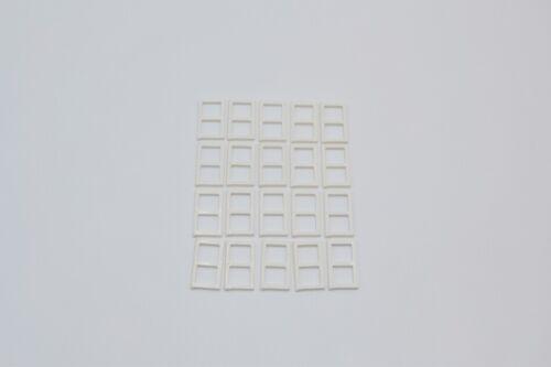 LEGO 20 x Fenstergitter Scheibe weiß White Window 1x2x3 Pane 3854