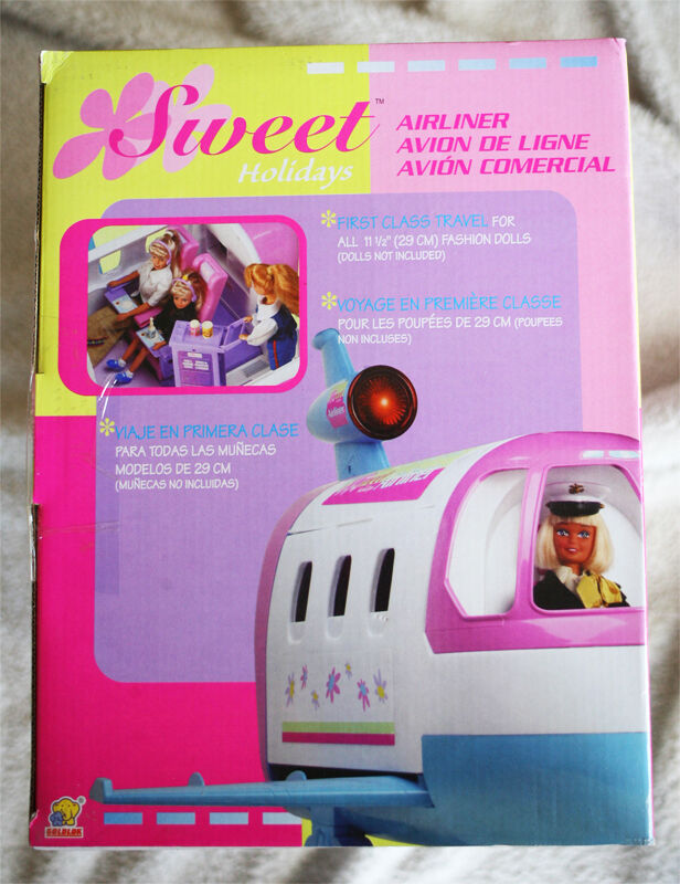 AIRLINER    SWEET HOLIDAYS PLANE (Avión) Lot FEATURES like BARBIE´S JET GLAM  NEW 10e0a5