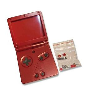 Game-Boy-GameBoy-Advance-GBA-SP-Wine-Red-Replacement-Shell-Housing-w-Tools-UK
