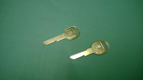 Vintage GM logo round key blanks code H 69 73 77 81 91-on trunk door glove USA