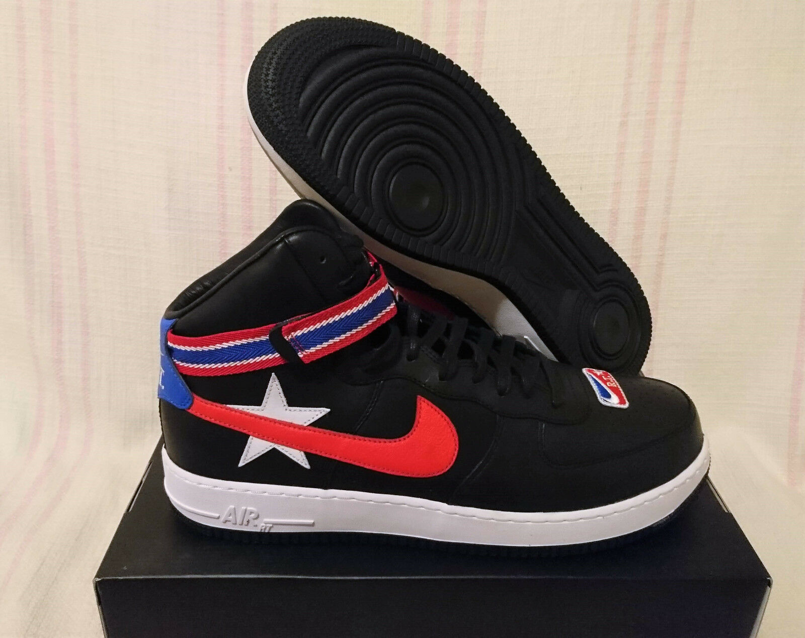 Nike air force di alto x riccardo tisci nt2 nero minotauri aq3366 001 numero 15