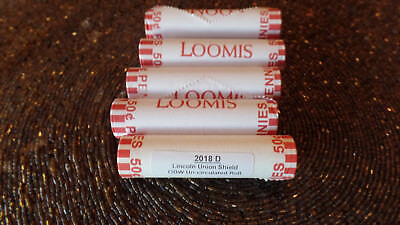 2018-D BU Lincoln Cent Roll Loomis wrapped