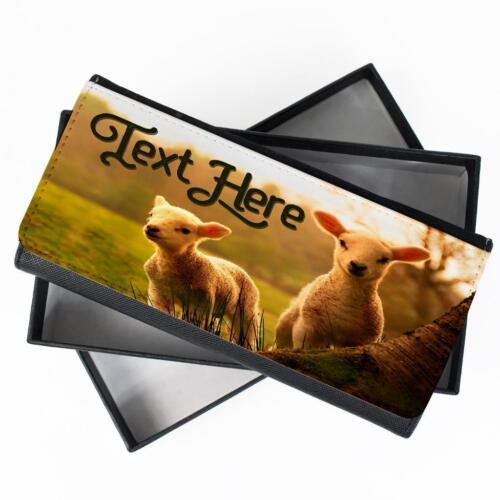 Personalised Ladies Purse LAMB SHEEP Long Coin Card Wallet Womens Gift KS49