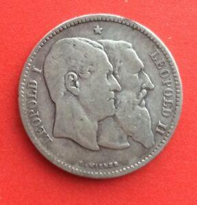Belgique - Léopold Ii - Rare Et Joli 2 Francs 1880 - Cinquantenaire Belgique Wnyqfgod-08002402-220010909