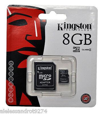 MICRO SD 16GB KINGSTON CON ADATTATORE CLASSE 4 SDC4//16GB Scheda microSDHC  Class