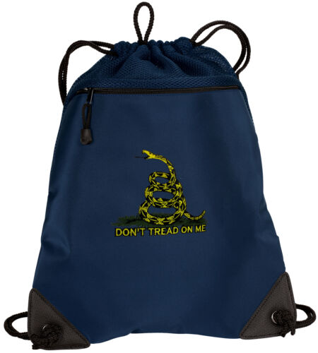 Don/'t Tread on Me Drawstring Bag Backpack MESH /& MICROFIBER Draw String BAGS Bac