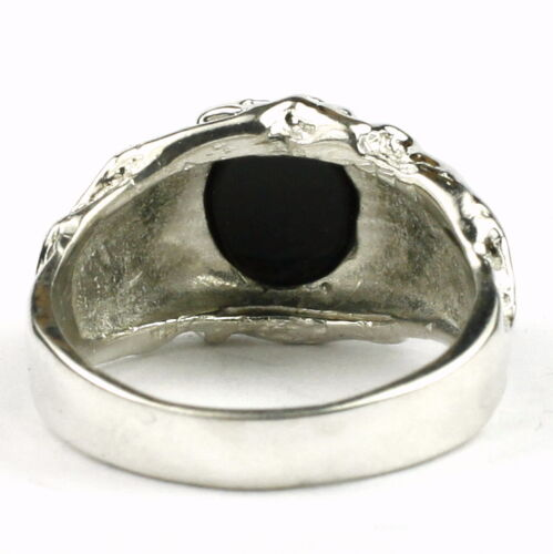 Solid 925 Sterling Silver Men/'s Ring SR168-Handmade Black Onyx