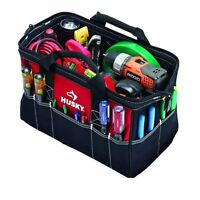 Husky 15in Tool Bag Portable Tote Pouch Electrician Heavy Duty Storage Organizer