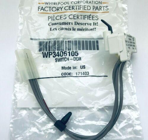 Genuine OEM WHIRLPOOL WP3406105 Sèche-linge porte Commutateur 3406105 AP6008560