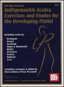 à Condition De Indispensable écailles, Exercices Et Etudes Pour Le Développement Flûtiste Flute Book-afficher Le Titre D'origine