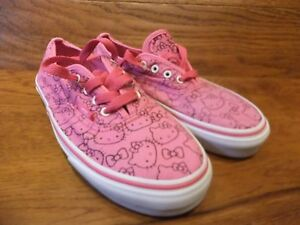 93bd395185 Image is loading Vans-Authentic-Pink-Hello-Kitty-Patterned-Canvas-Trainers-