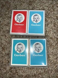 NOS Double Deck Set of Vintage Playing Cards in Box-Gerber Baby