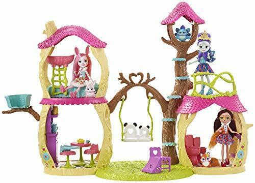 Enchantimals FNM92 - Panda Baumhaus Spielset mit Puppe und Tier inkl.