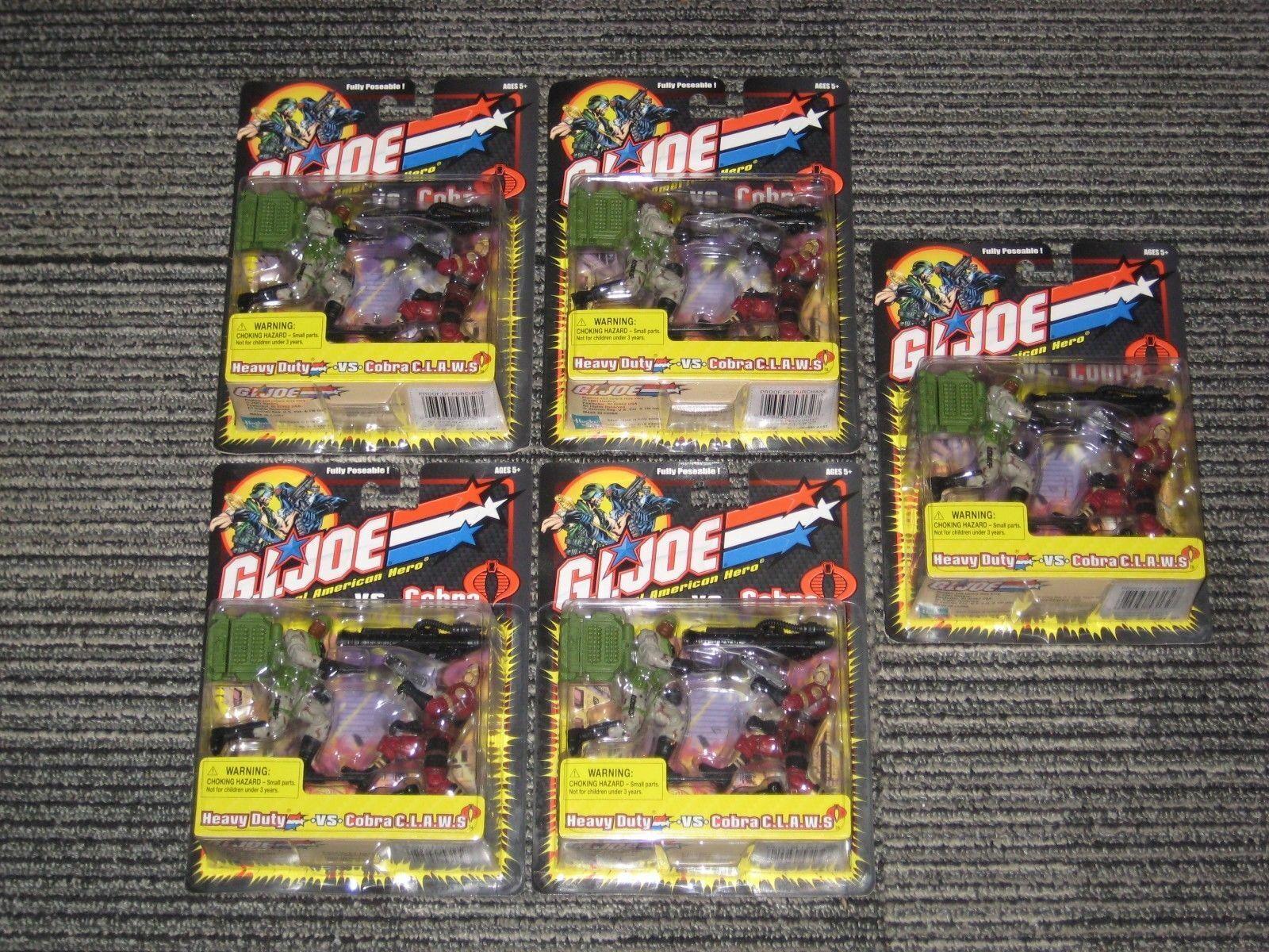 GI Joe 2002 Heavy Duty Vs. Cobra CLAWS MOC SEALED Army Builder Lot X 5