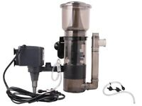 Aquarium Protein Skimmer W/ 530GPH Pump Filter Powerhead Tank Salt Water 150 Gal